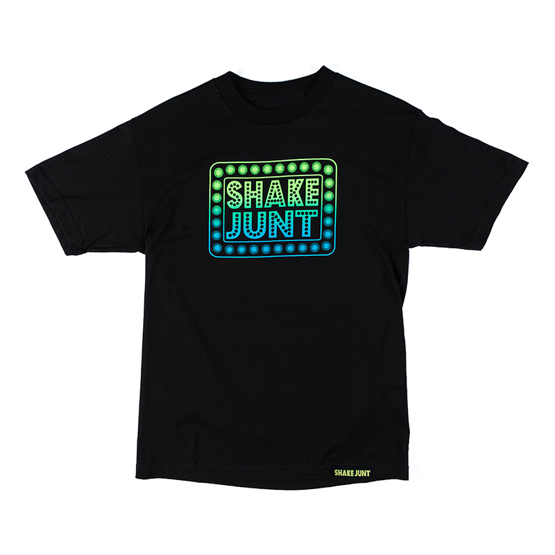 Shake Junt Box Logo T-Shirt Black Blue M - Skatestore.com