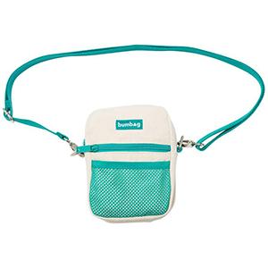 Granola Shoulder Bag Creme/Turq Bumbag