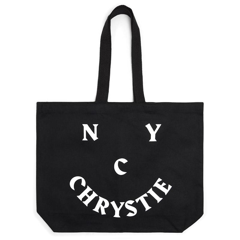 Chrystie NYC Smile Logo Tote Bag Black