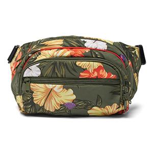 Diamond Aloha Floral Fanny Pack Olive