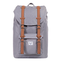 Herschel Little America Backpack Mid-Volume Grey/Tan Synthetic Leather