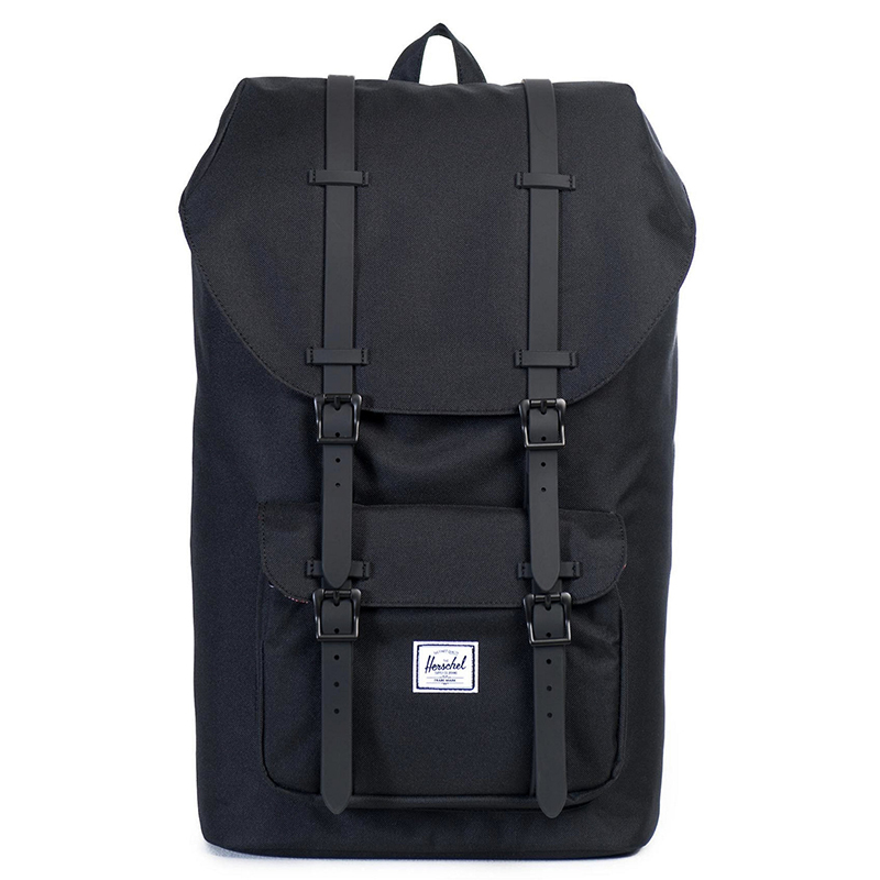Herschel Little America Mid-Volume Backpack Black Rubber