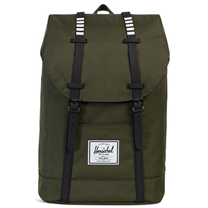 Herschel Retreat Mid-Volume Backpack Black Rubber