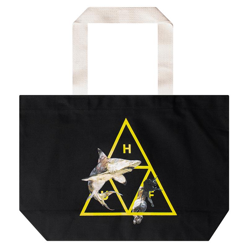 HUF Frazetta Shark Attack Tote Bag Black