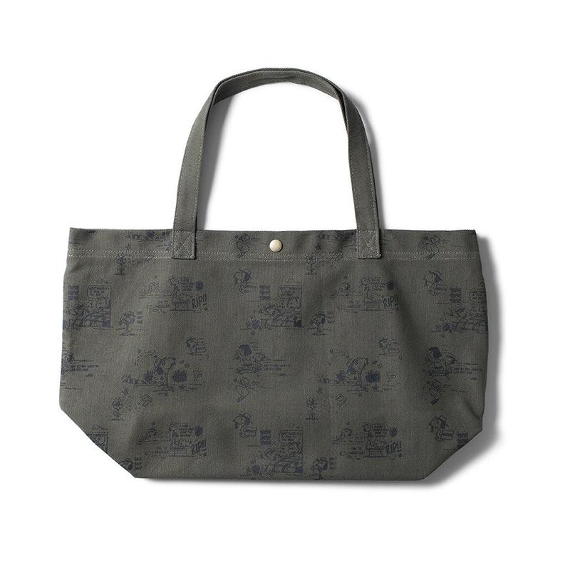 HUF Spike Scrawl Tote Bag Olive