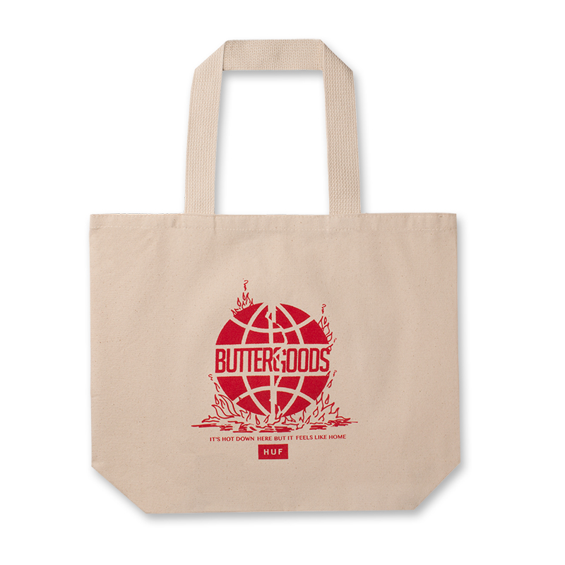 HUF X Butter Goods Feels Like Home Tote Bag Natural