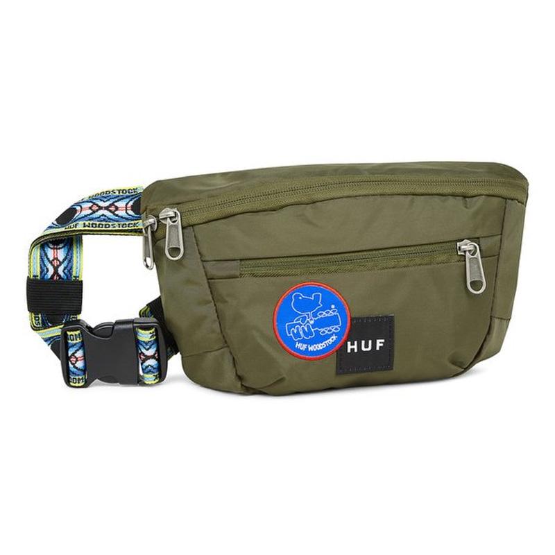 HUF X Woodstock Side Trip Bag Olive