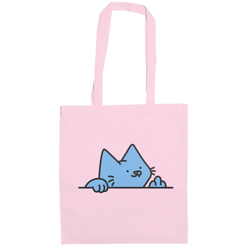Leon Karssen Paw Off Tote Bag Light Pink Light Blue