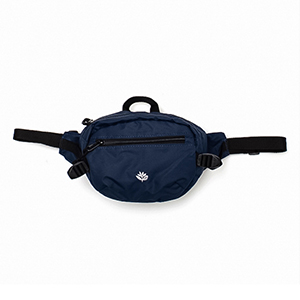Magenta Banana Sling Pack Dark Navy