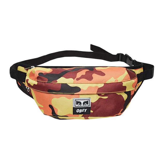 Obey Drop Out Sling Pack Orange Field Camo