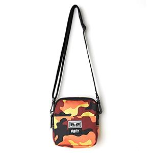 Obey Drop Out Traveler Bag Orange Field Camo