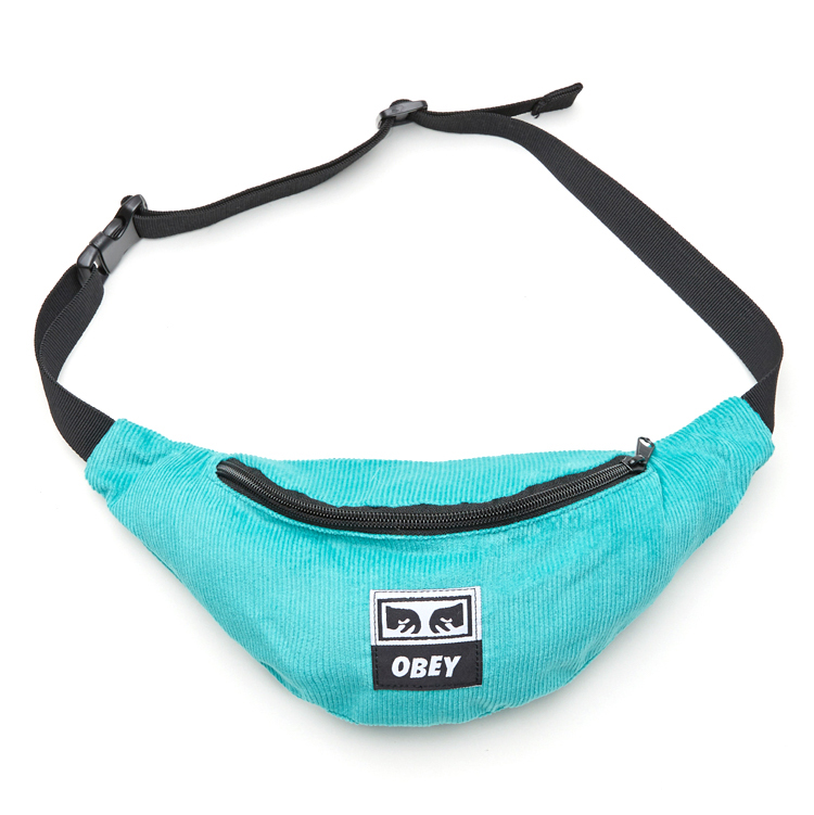 Obey Wasted Hip Bag Teal Cord