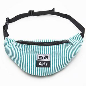 Obey Wasted Hip Bag Teal/White