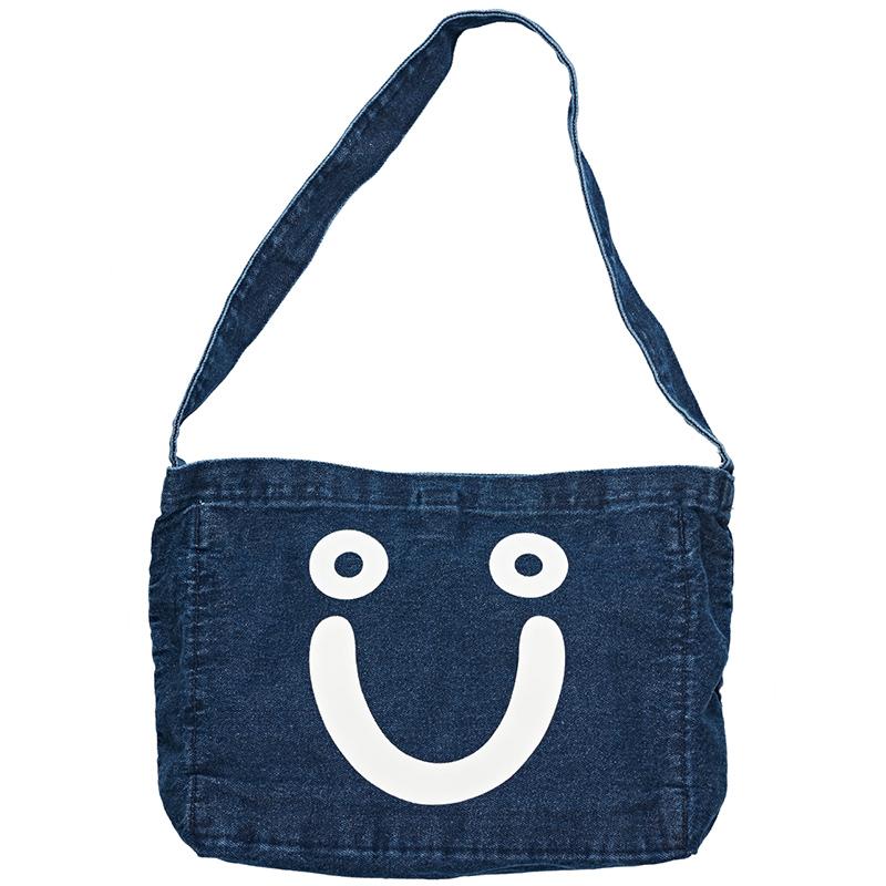 Polar Happy Sad Denim Tote Bag Dark Blue