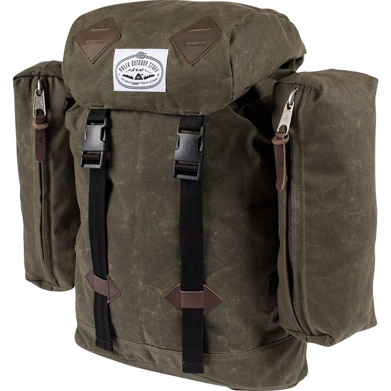 Poler Classic Excursion Pack Waxed Burnt Olive