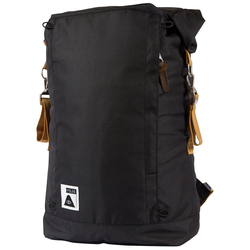 Poler Rolltop Backpack Black