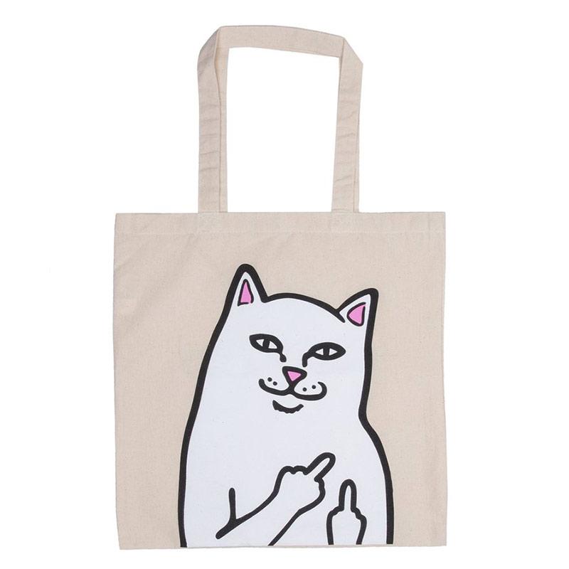RIPNDIP Lord Nermal Pocket Tote Bag Natural