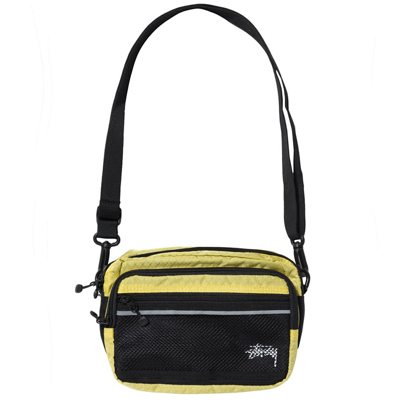 Stussy Diamond Ripstop Shoulder Bag Lime