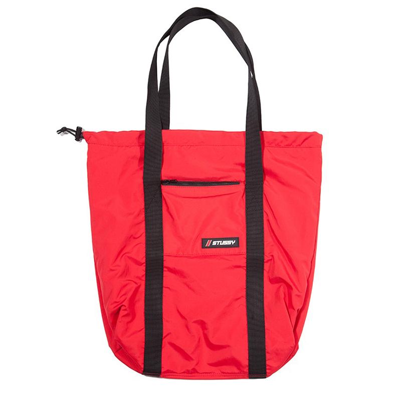 Stussy Horizon Bungee Tote Bag Red