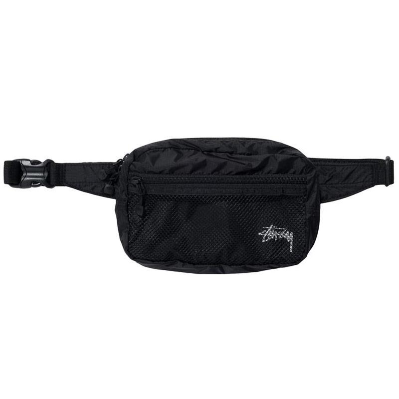 Stussy Light Weight Waist Bag Black