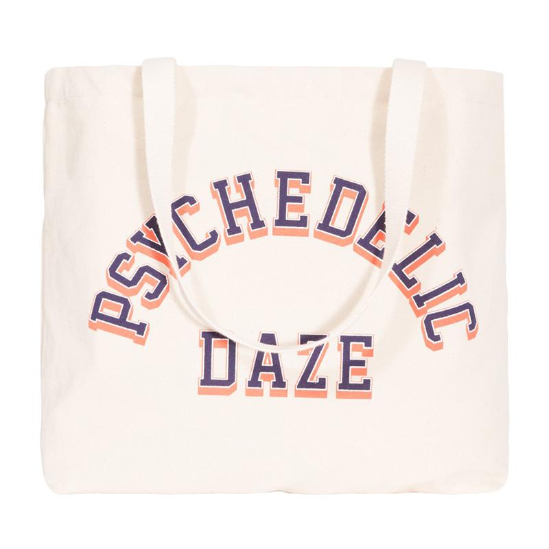 Stussy Psychedelic Daze Tote Bag Natural