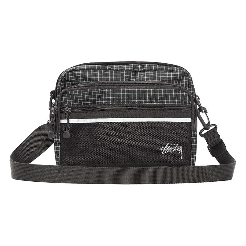 Stussy Ripstop Nylon Shoulder Bag Black