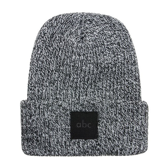 ABC Reed Marled Cuff Beanie Grey