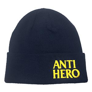 Anti Hero Blackhero Emb Cuff Beanie Navy/Yellow