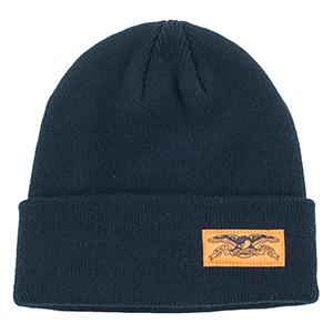 Anti Hero Stock Eagle Label Cuff Beanie Black/Safety Orange