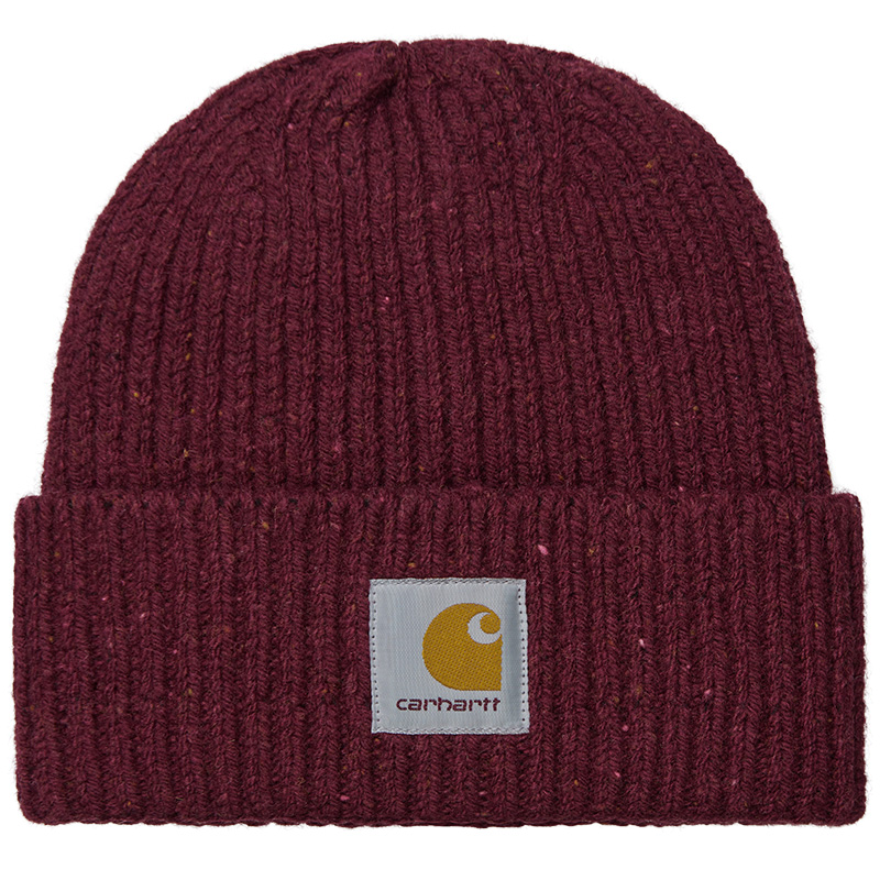 Carhartt WIP Anglistic Beanie Speckled Wine
