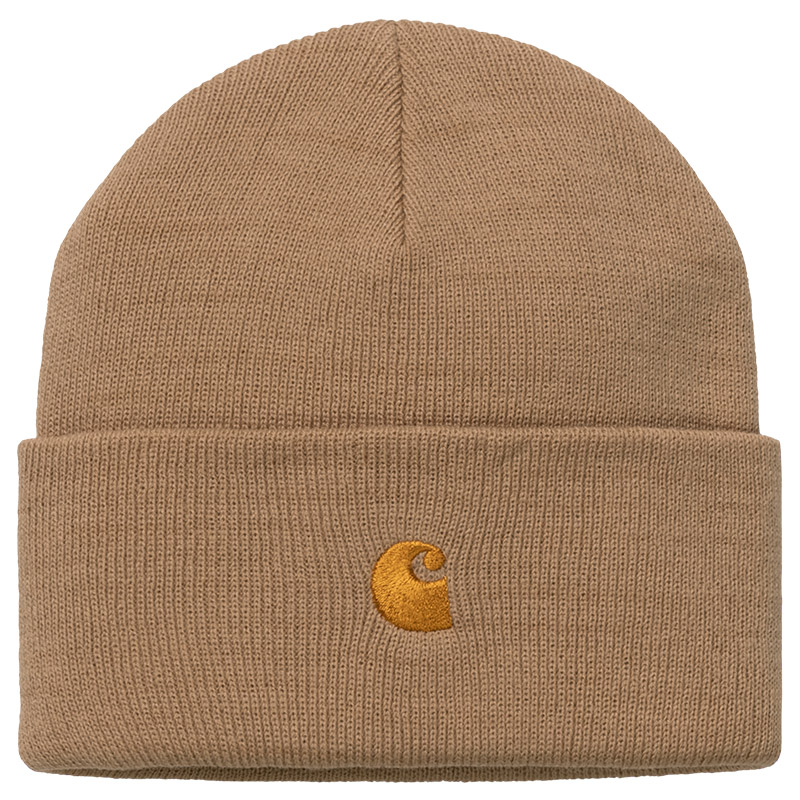 Carhartt WIP Chase Beanie Dusty H Brown/Gold