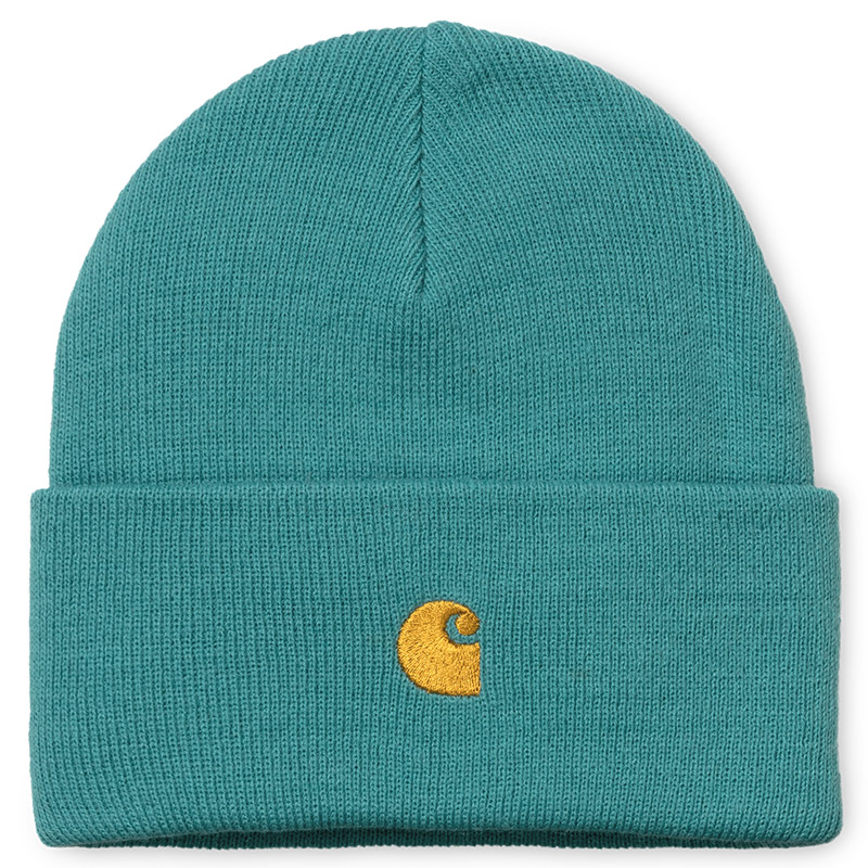 Carhartt WIP Chase Beanie Frosted Turquoise/Gold