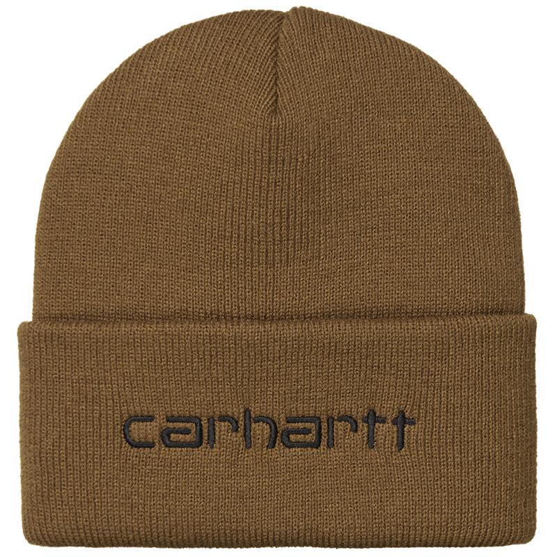 Carhartt WIP Script Beanie Hamilton Brown/Black