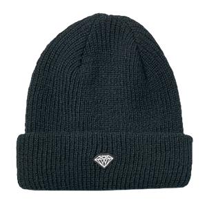 Diamond Brilliant Patch Beanie Black