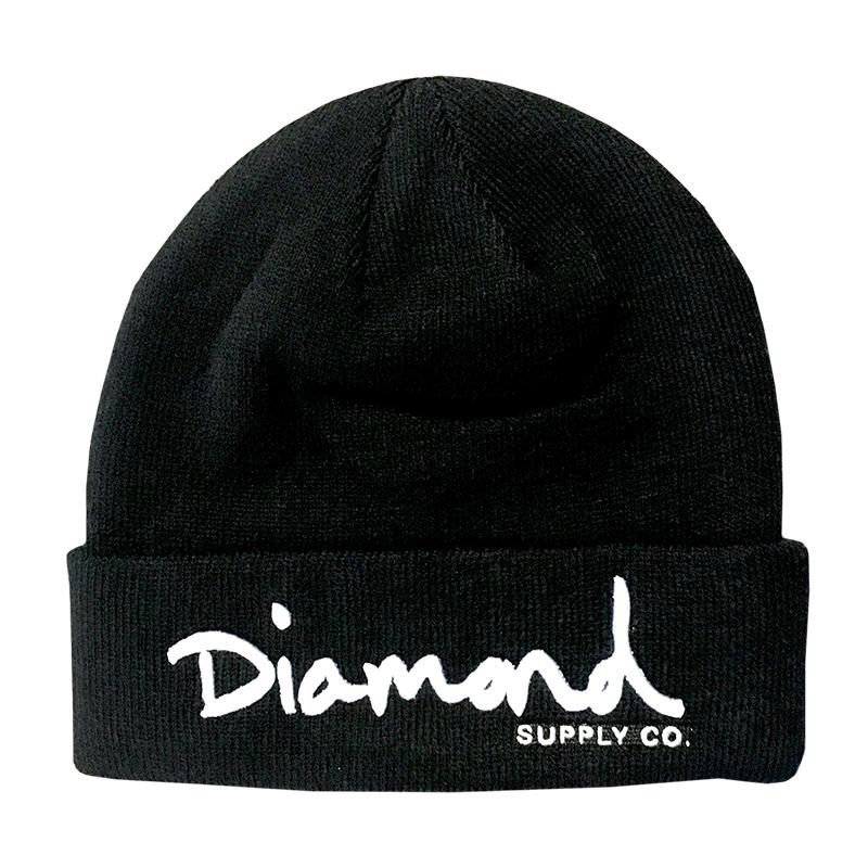 Diamond OG Script Beanie Black