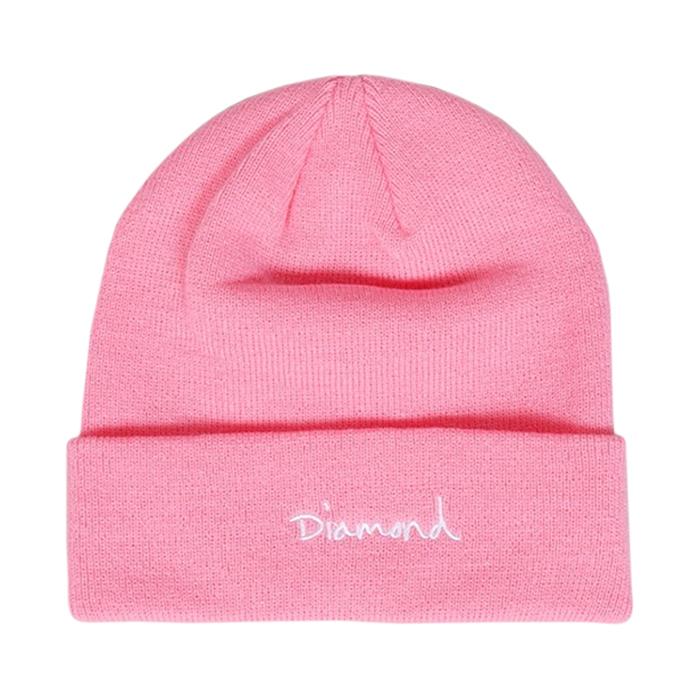 Diamond OG Script Beanie Pink
