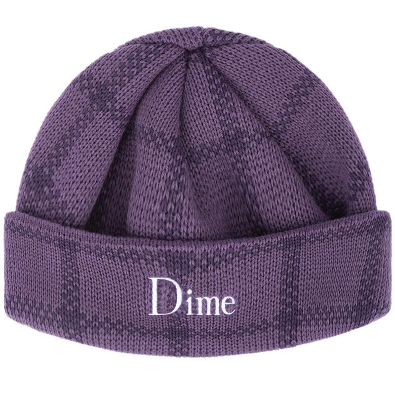 Dime Classic Plaid Beanie Purple Blue