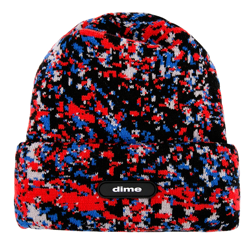Dime Speckle Beanie Red