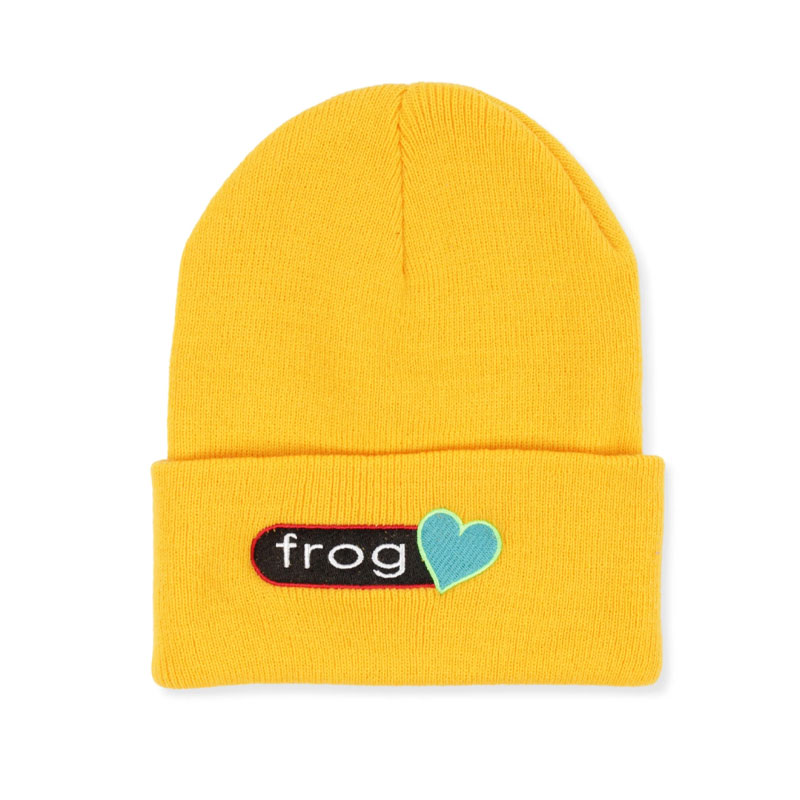 Frog Perfect Heart Beanie Yellow