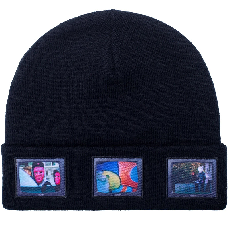 Hockey Screens Beanie Black