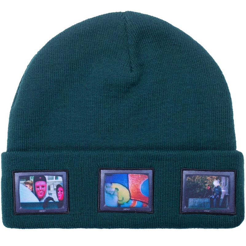 Hockey Screens Beanie Dark Green