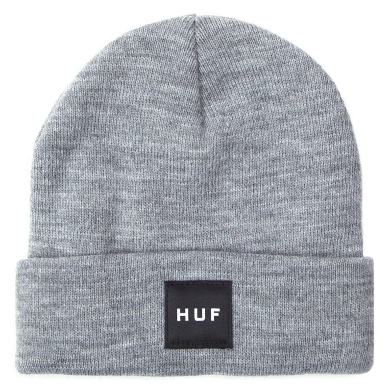 HUF Box Logo Beanie Grey Heather