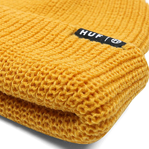19ed54a932922 HUF Usual Beanie Mineral Yellow. undefined. Loading zoom