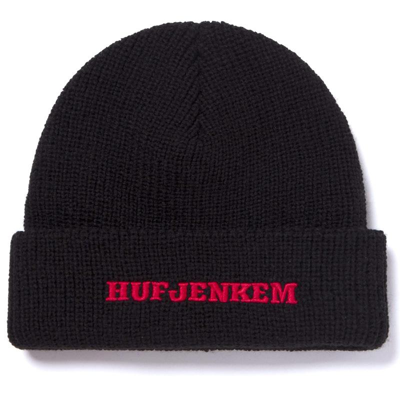 HUF X Jenkem Mag Teamwork Cuff Beanie Black