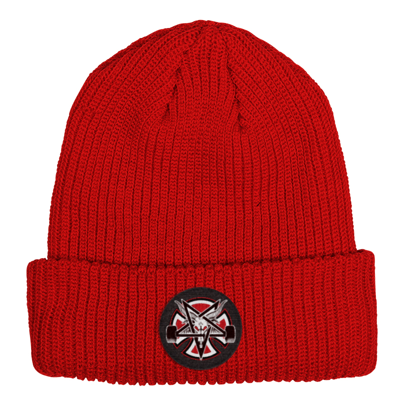 Independent x Thrasher Pentagram Cross Longshoreman Beanie Lipstick