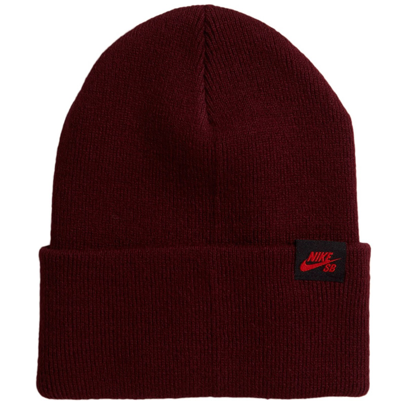Nike SB Cap Utility Beanie Dark Beetroot/Chile Red