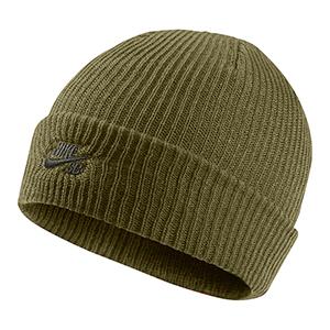 Nike SB Fisherman Beanie Olive Flak/Sequoia