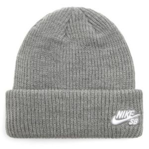 Nike SB U Nk Fisherman Beanie Dark Grey Heather/White