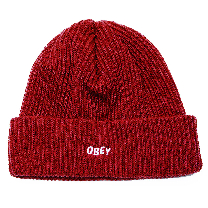 Obey Hangman Beanie Brick Red