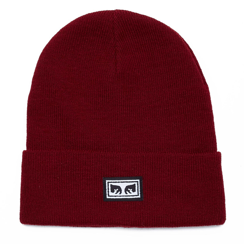 Obey Icon Eyes Beanie Fig Red